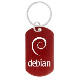Dog-Tag-Key-Chain-Red