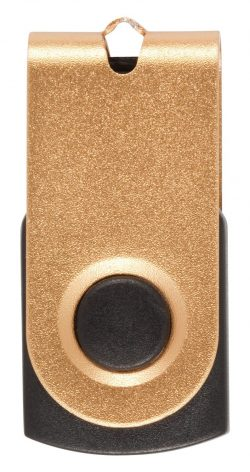 Mini Flipout Flash Drive Gold