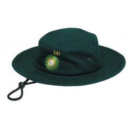 Surf Hat Wide Brim Green Emb