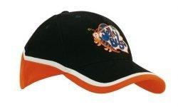 4026 Orange Black White Promotional Cap Embroidered Perth