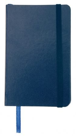 Leather Look Notebook A5 Navy