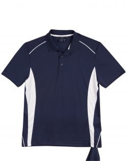 Perth Uniforms, CoolDry, Polo Shirt, Navy/White, Print Embroidery