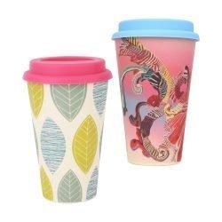 400ml Reusable Bamboo Coffee Cup 7