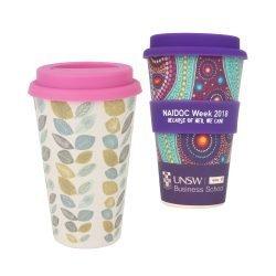 400ml Reusable Bamboo Coffee Cup 8
