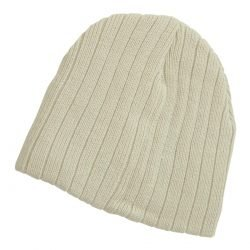 Cable Knit Beanie Stone