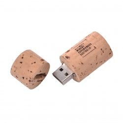 Wine Cork Flash Drive open